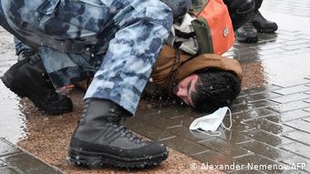 Полиция применяла силу по отношению к демонстрантам
