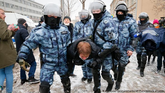 Russland | Protest gegen die Festnahme von Alexei Nawalny