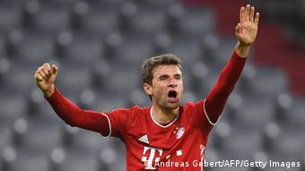 Нападающий немецкого футбольного клуба Бавария Томас Мюллер
