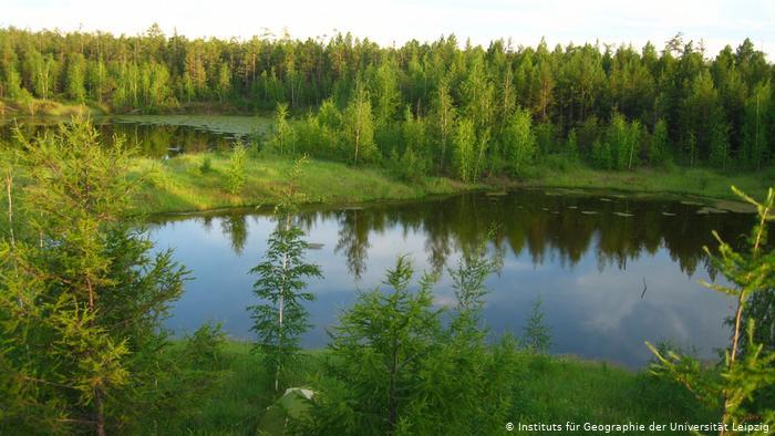 Озера, возникшие из-за таяния вечной мерзлоты