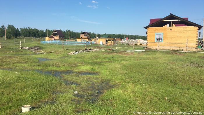 Строительство домов на тающей почве в Якутии