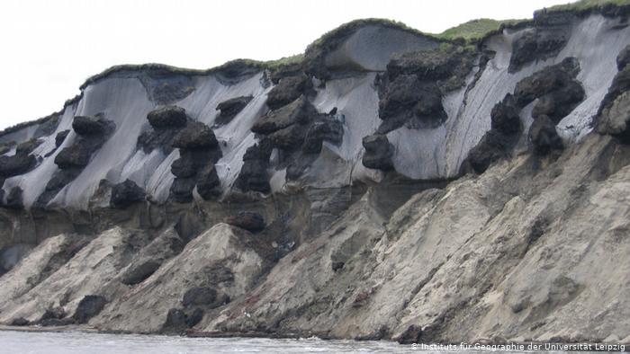 Таяние вечного льда в дельте Лены