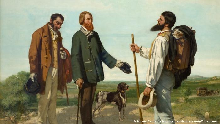 Картина Гюстава Курбе,Встреча, 1854 г.