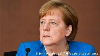 Федеральный канцлер Германии Ангела Меркель на заседании контрольного комитета бундестага по ситуации с Wirecard, 23 апреля 2021 года