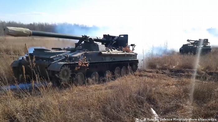 Российская военная техника вблизи российско-украинской границы