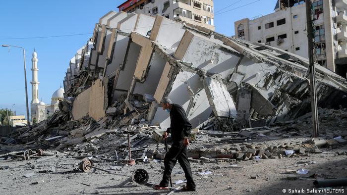 Руины зданий в городе Газа