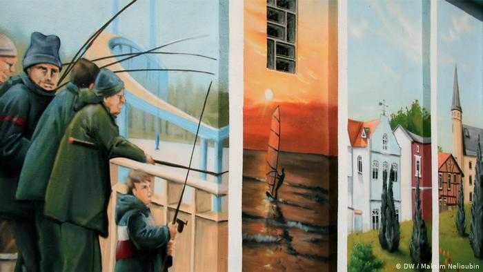 Трансформаторная будка с изображениями достопримечательностей острова Рюген. Фото: DW / Максим Нелюбин