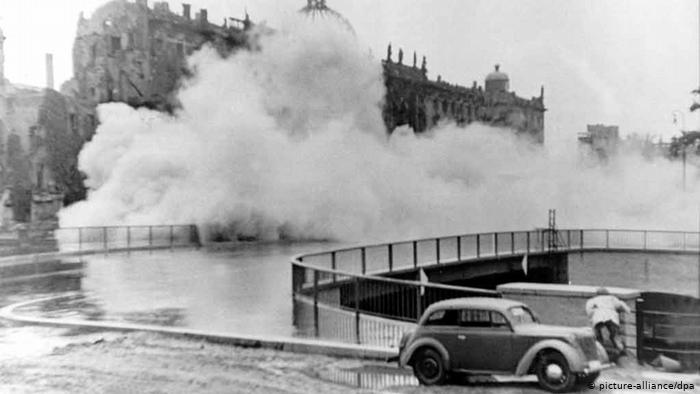 Взрыв Городского дворца, Берлин, 1950 г.