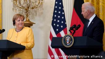 Канцлер Меркель и президент Байден, июль 2021 года