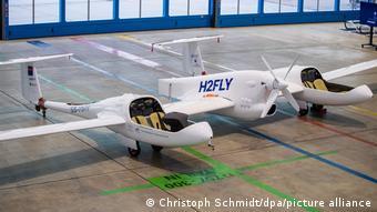 Легкий водородный самолет HY4 фирмы H2Fly в Штутгарте