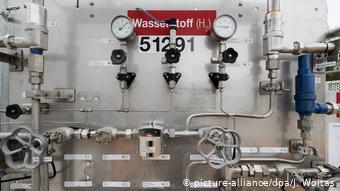 Бак с водородом в лаборатории Технического университета Хемница