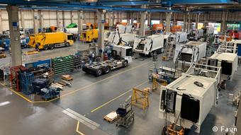 Серийное производство водородных мусоровозов на заводе фирмы Faun близ Бремена