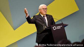 Франк-Вальтер Штайнмайер на открытии новой экспозиции в Форуме Гумбольдтов