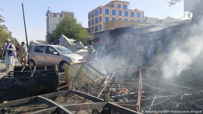 Разрушенные здания в Кундузе