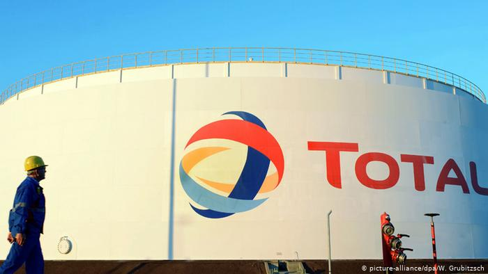 Резервуар на НПЗ Total в Лойне