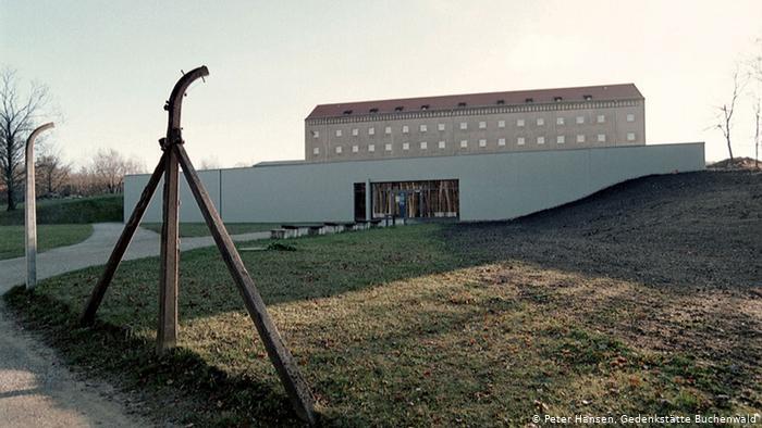 Одно из зданий советского спецлагеря №2 в Бухенвальде