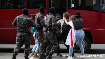 Задержание участников протестов в Минске