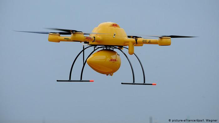 Вертолет-курьер DHL