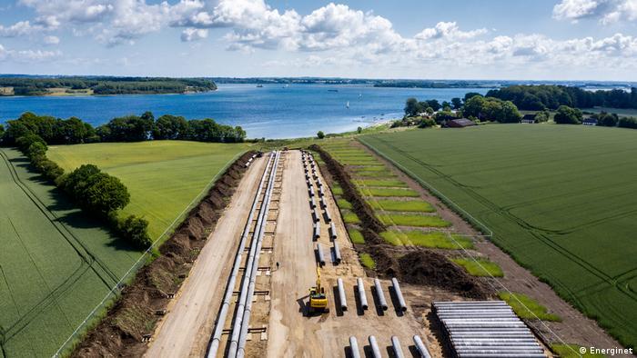 Прокладка газопровода Baltic Pipe в Дании