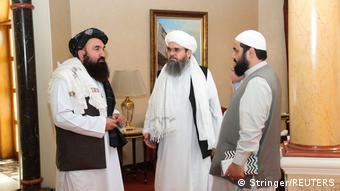 Представители Талибана в Дохе перед переговорами с делегацией США